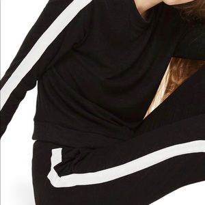 Topshop Tops - Topshop Stripe Sweat Suit